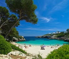 Cala Esmeralda beach around