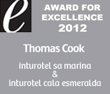 inturotel cala esmeralda and inturotel sa marina & es sivinar   awarded by Thomas Cook UK with the Excellence Award