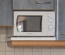 new microwaves set in the kitchenettes at inturotel sa marina & es sivinar